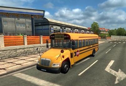 SCHOOL BUS IN TRAFFIC 1 23 | ETS2 mods | Euro truck
