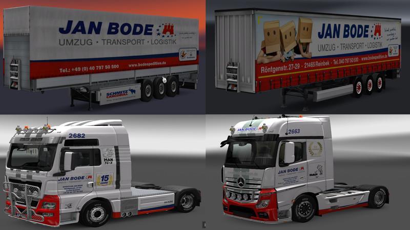 january bode spedition pack ets2 mods euro truck simulator 2 mods ets2mods lt. Black Bedroom Furniture Sets. Home Design Ideas