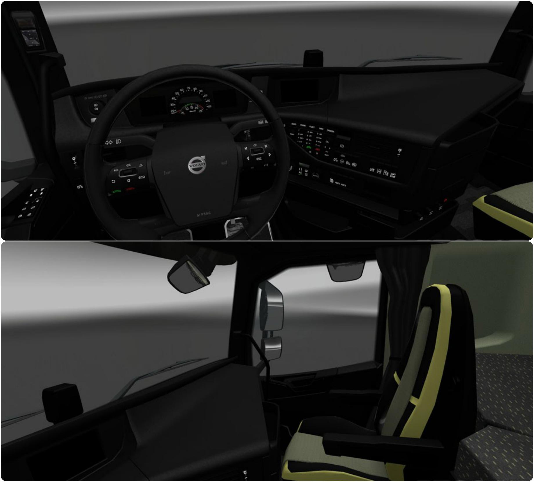 VOLVO FH16 2012 BLACK INTERIOR 1.24 | ETS2 mods | Euro truck ...