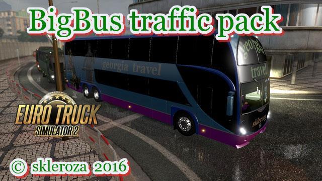 BIG BUS TRAFFIC PACK V1 4 8 | ETS2 mods | Euro truck
