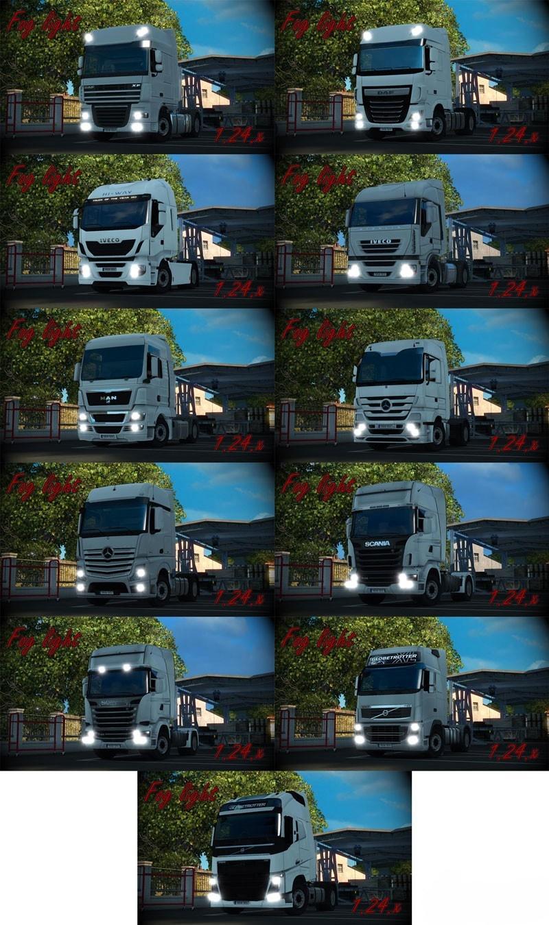 Fog Lights For All Trucks 1 24 Ets2 Mods Euro Truck