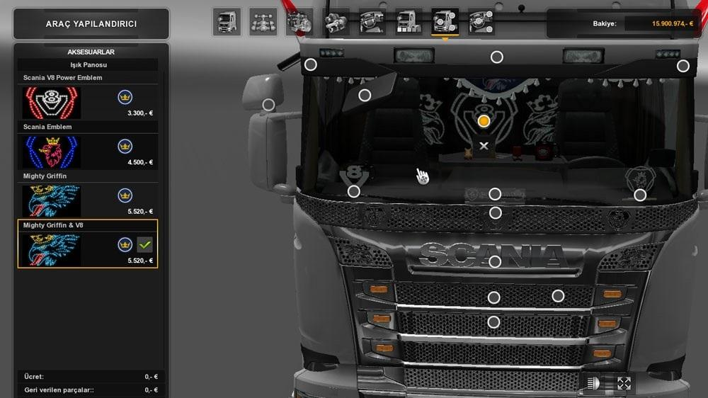 Mighty Griffin Amp V8 Backlight Ets2 Mods Euro Truck