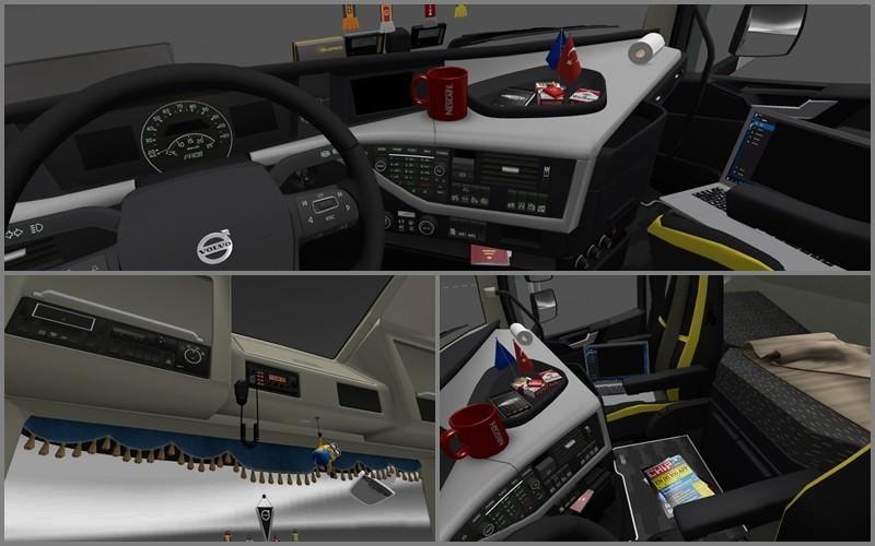 NEW VOLVO FH16 ACCESSORIES + INTERIOR V2.2 | ETS2 mods | Euro truck ...