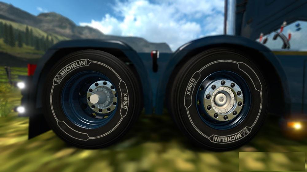 White Michelin Tires For 50k Wheels Pack Ets 2 Mods