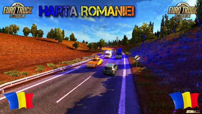 Map Of Romania V9 0 7 1 26 Ets2 Mods Euro Truck Simulator 2