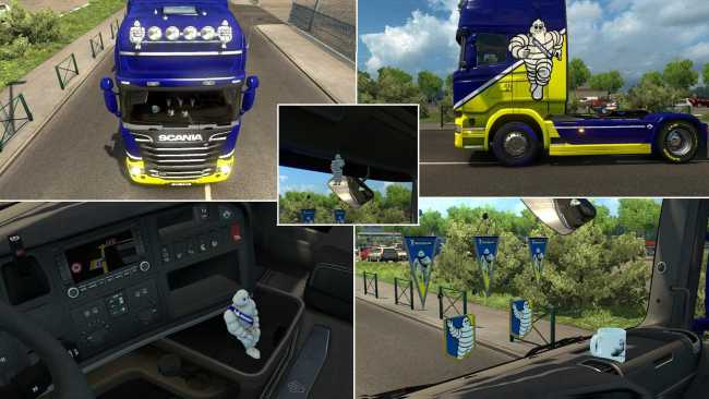 Hi Friends I Just Made A Lot Of Quality That You Can Find Here Official Euro Truck Simulator 2 Michelin Fan Pack DLC Mode