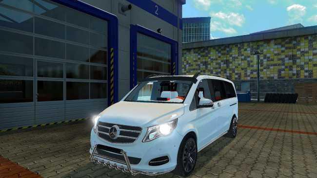mercedes viano v1 0 ets2 mods euro truck simulator 2 mods ets2mods lt. Black Bedroom Furniture Sets. Home Design Ideas