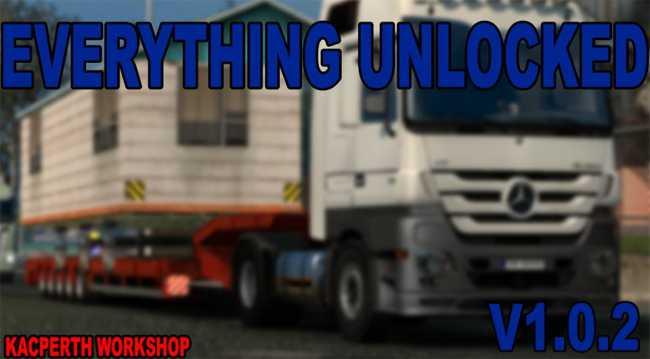 EVERYTHING UNLOCKED V1 0 2 (1 27)   ETS2 mods   Euro truck