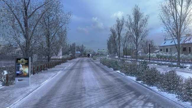 frosty winter weather mod v6 3 ets 2 mods   euro truck