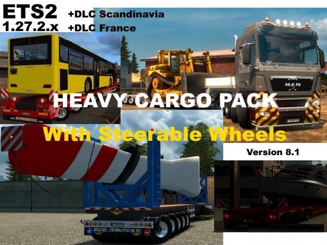 heavy cargo pack v8 1 ets2 mods euro truck simulator 2. Black Bedroom Furniture Sets. Home Design Ideas