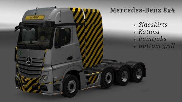 Mercedes benz 2014 8x4 modified ets2 mods euro truck for Mercedes benz truck parts