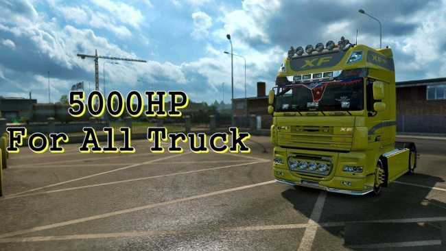 5000 HP FOR ALL TRUCK 1 28 X | ETS2 mods | Euro truck