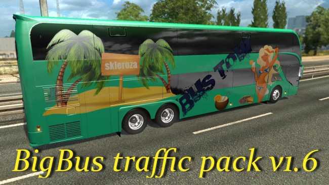 BIGBUS TRAFFIC PACK V1 6 | ETS2 mods | Euro truck simulator