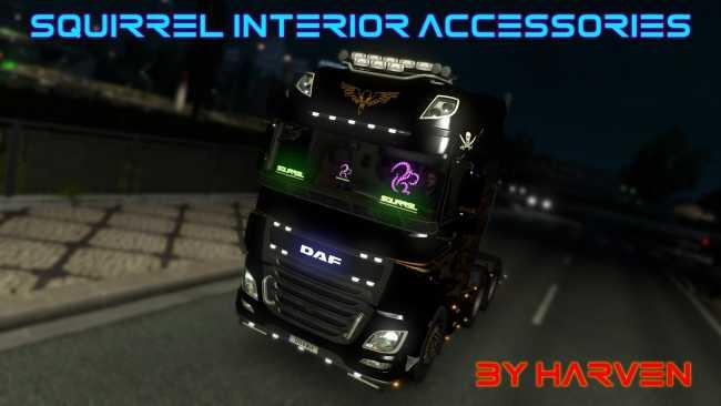 SQUIRREL INTERIOR ACCESSORIES V1 0   ETS2 mods   Euro truck