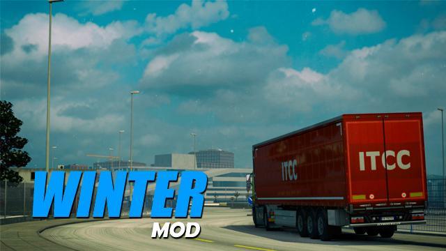 WINTER MOD V0 2 1 28 | ETS2 mods | Euro truck simulator 2 mods