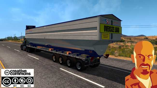 Oversize Trailers U S A Ets Version X on Game Trucks Volvo N10