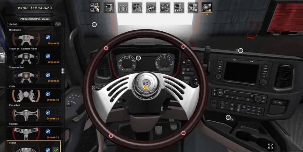 2017 Peterbilt 579 >> DLC Steering Wheel from ATS to ETS2 [1.30.x] | ETS2 mods | Euro truck simulator 2 mods - ETS2MODS.LT