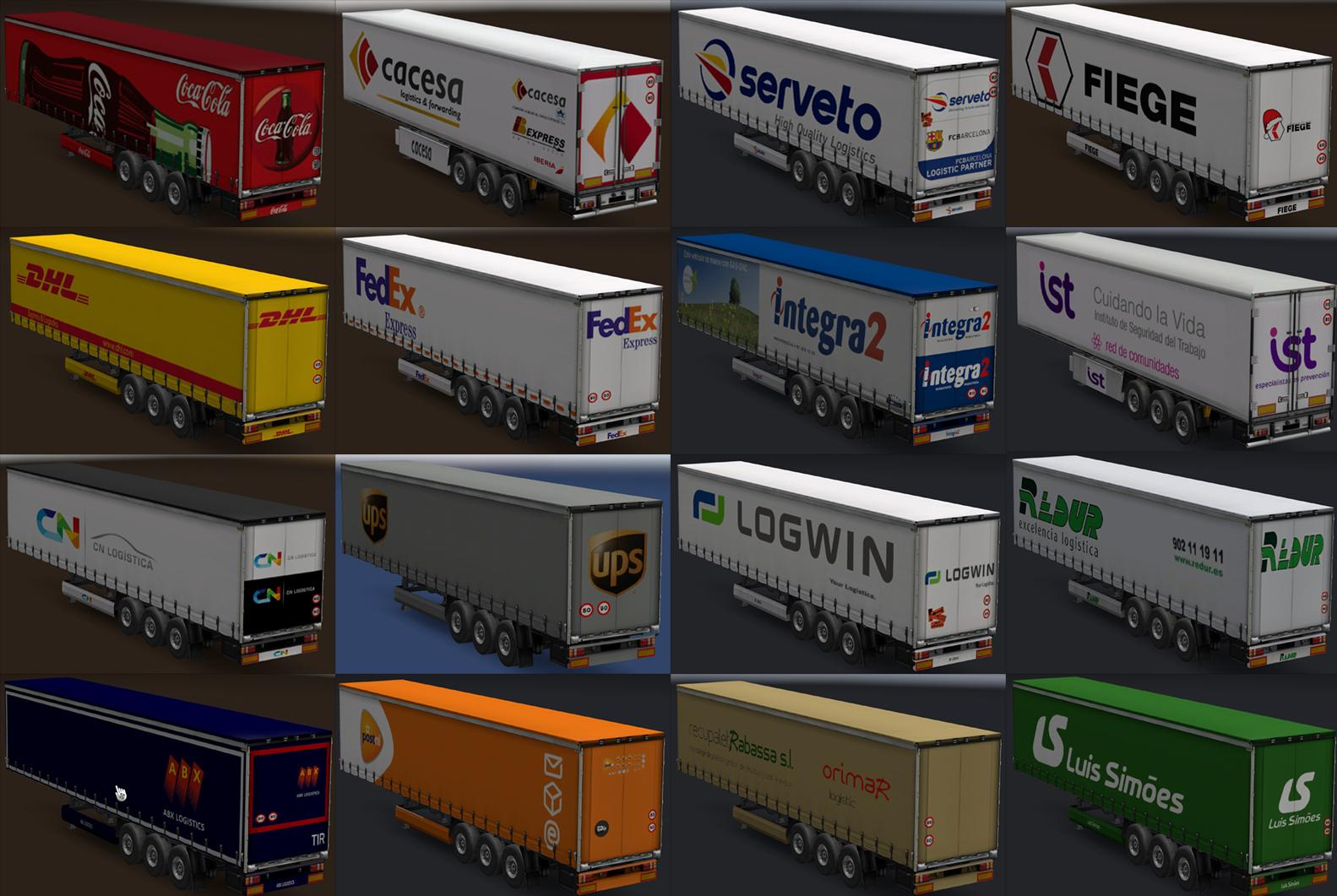 Trailers of Real Companies 2.0 by Maryjm30 for ETS2 [1.30.x] | ETS2 mods | Euro truck simulator ...