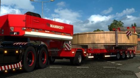 red mammoet heavy special transport trailer skin ets2. Black Bedroom Furniture Sets. Home Design Ideas