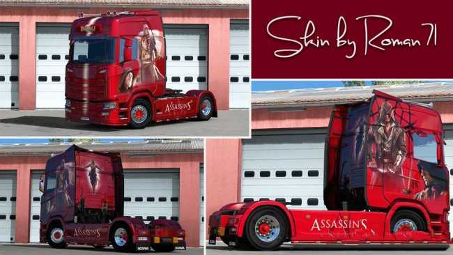 Scania New Generation S Assassin S Creed Skin Ets2 Mods