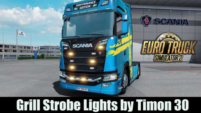 Strobe lights for grill 130 ets2 mods euro truck simulator 2 strobe lights for grill 130 aloadofball Images