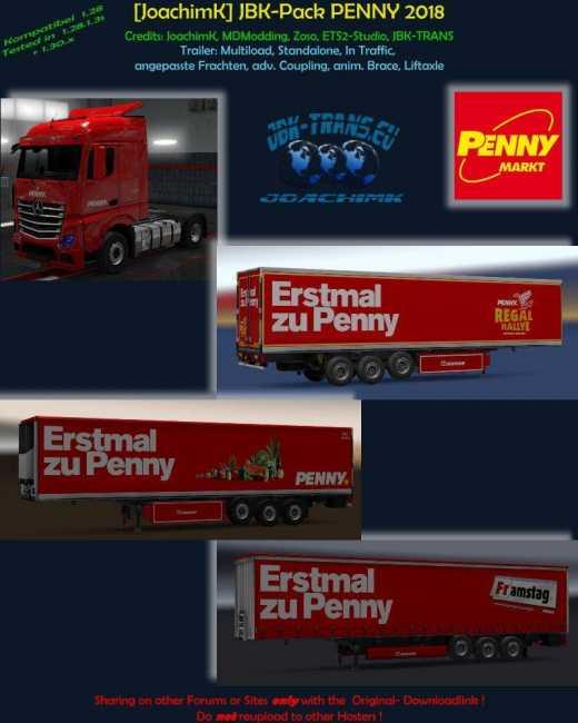 JOACHIMK] JBK-PACK PENNY MARKT V1 0 | ETS2 mods | Euro truck