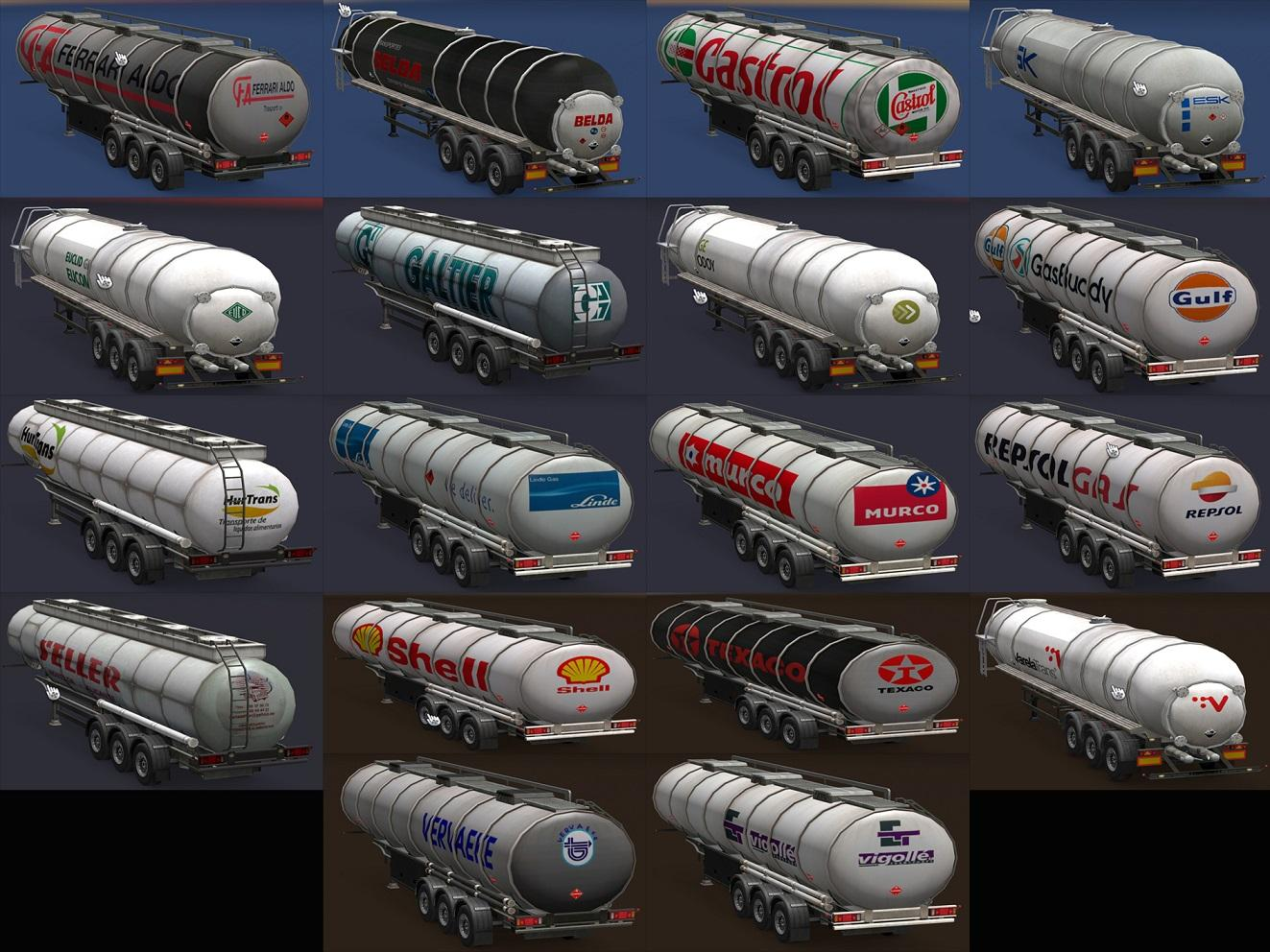 Fuel Cistern Package of real Companies [1.30.x] | ETS2 mods | Euro truck simulator 2 mods ...