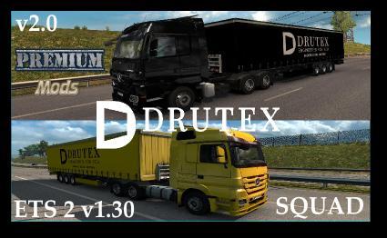 ETS 2 DRUTEX SQUAD V2 0 | ETS2 mods | Euro truck simulator 2 mods