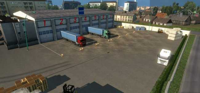 warehouse le havre v1 0 ets2 mods euro truck simulator. Black Bedroom Furniture Sets. Home Design Ideas