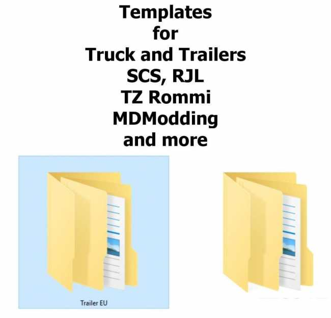 templates for trucks and trailers ets2 mods euro truck simulator