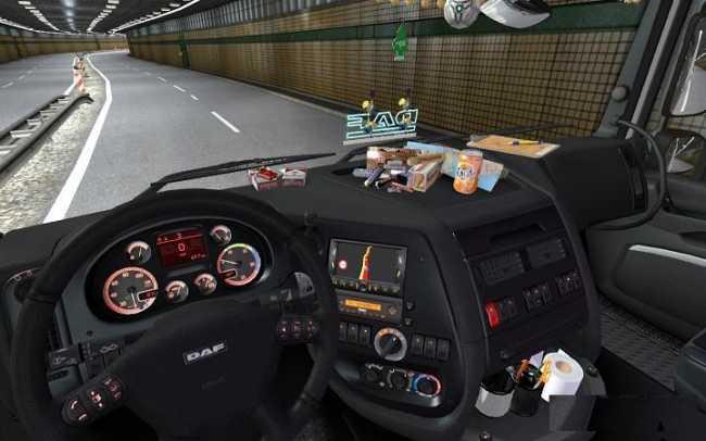 daf xf 105 interior sound dashboard v1 0 ets2 mods euro truck simulator 2 mods ets2mods lt. Black Bedroom Furniture Sets. Home Design Ideas