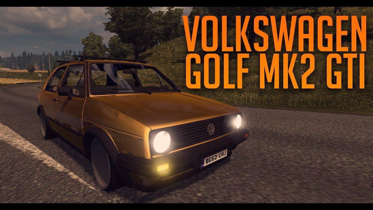 VW GOLF MK2 GTI -updated- (1.31) | ETS2 mods | Euro truck ...