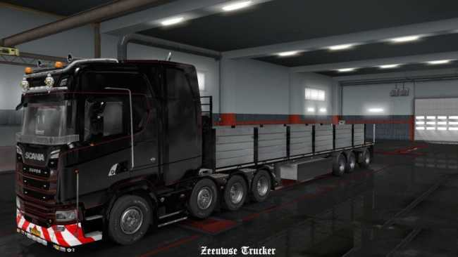 OWNED FLATBED TRAILER EDIT 1 32 X   ETS2 mods   Euro truck