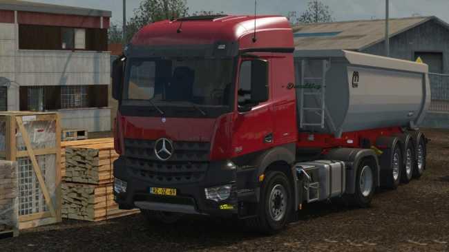 REAL MERCEDES BENZ MP4 SOUND 1.32   ETS2 mods   Euro truck simulator 2 mods - ETS2MODS.LT