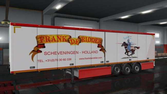 FRANK DE RIDDER TRAILER OWNED SKIN 1.32   ETS2 mods   Euro ...