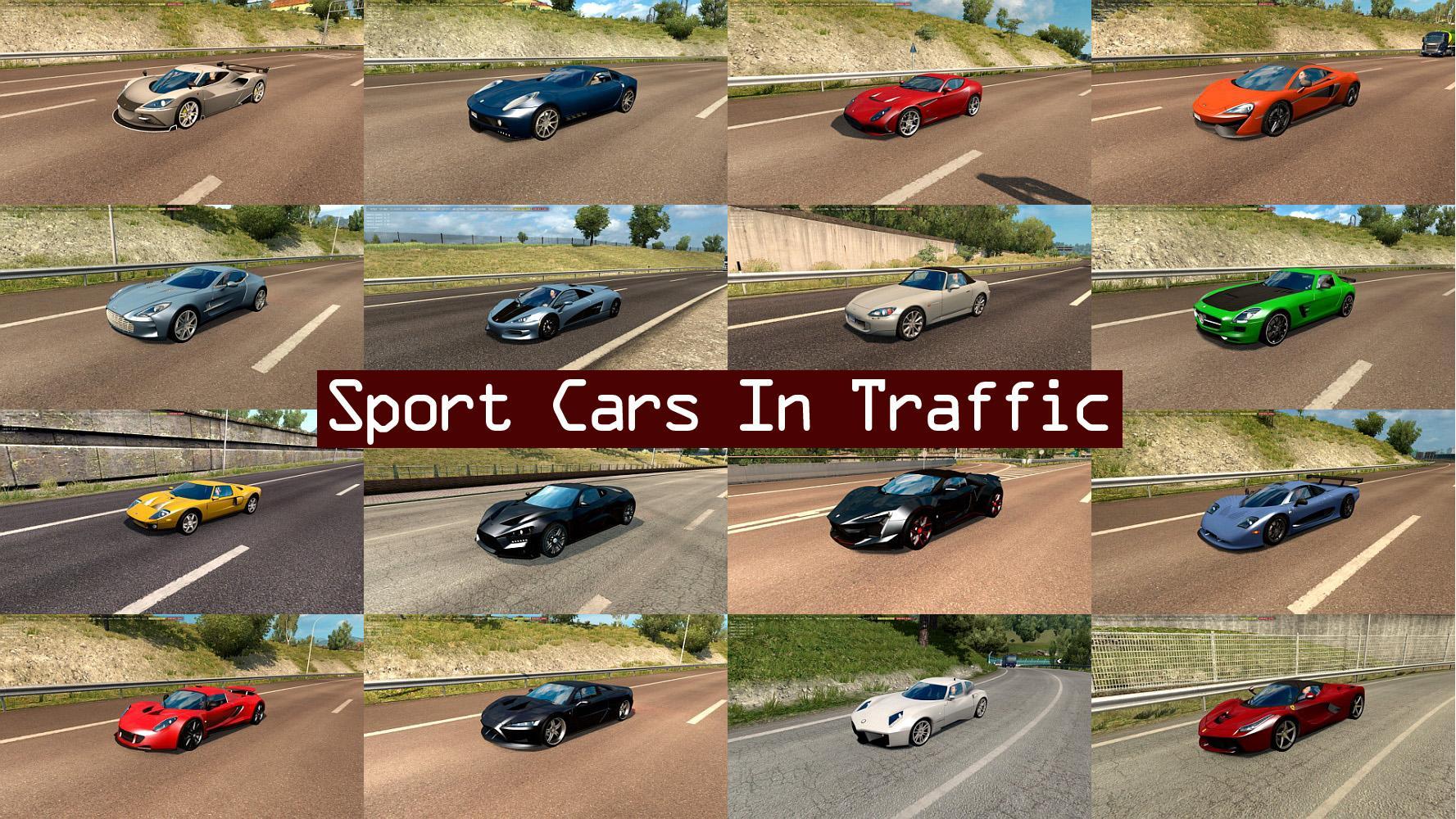 Sport Cars Traffic Pack By Trafficmaniac V1 7 Ets2 Mods