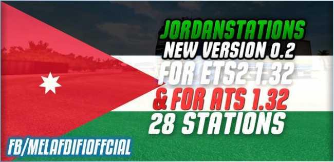 JORDANIE5TATIONS V0 2 FOR ETS2 1 32 & ATS 1 33 | ETS2 mods | Euro
