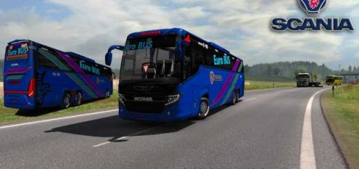 scania touring blue euro bus HD skin and with passenger mods fix chassis Air Suspension (5)_5AA8