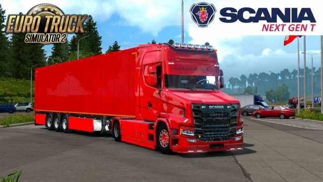 SCANIA T NEXTGEN 4X2 + INTERIOR + TRAILER 1 33 X | ETS2 mods | Euro