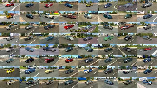 AI TRAFFIC PACK BY JAZZYCAT V9 3 | ETS2 mods | Euro truck