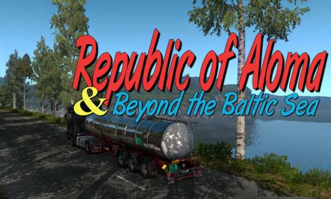 MAP REPUBLIC OF ALOMA AND BEYOND THE BALTIC SEA 1 33 X | ETS2 mods