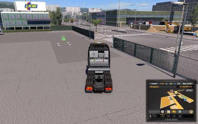 TRUCK CAMERA DISTANCE 1 33 X   ETS2 mods   Euro truck
