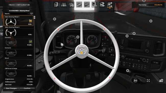 Ets2 Mods Steering Wheel, Scania Next Gen Vabis Steering Wheel 1 34, Ets2 Mods Steering Wheel