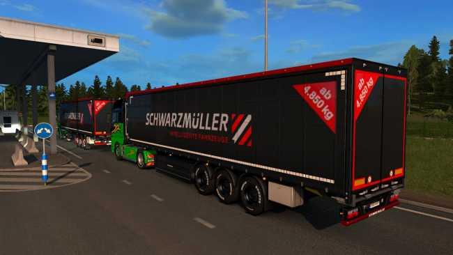 SCHWARZMÜLLER TRAILER OWNERSHIP 1 34 | ETS2 mods | Euro