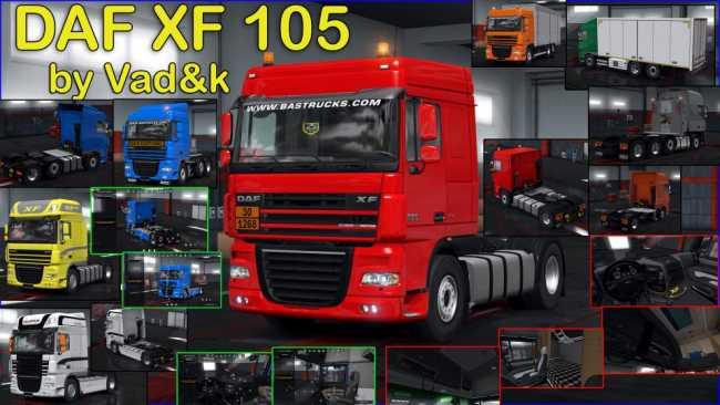 DAF XF 105 BY VAD&K V6 6 1 34 X | ETS2 mods | Euro truck