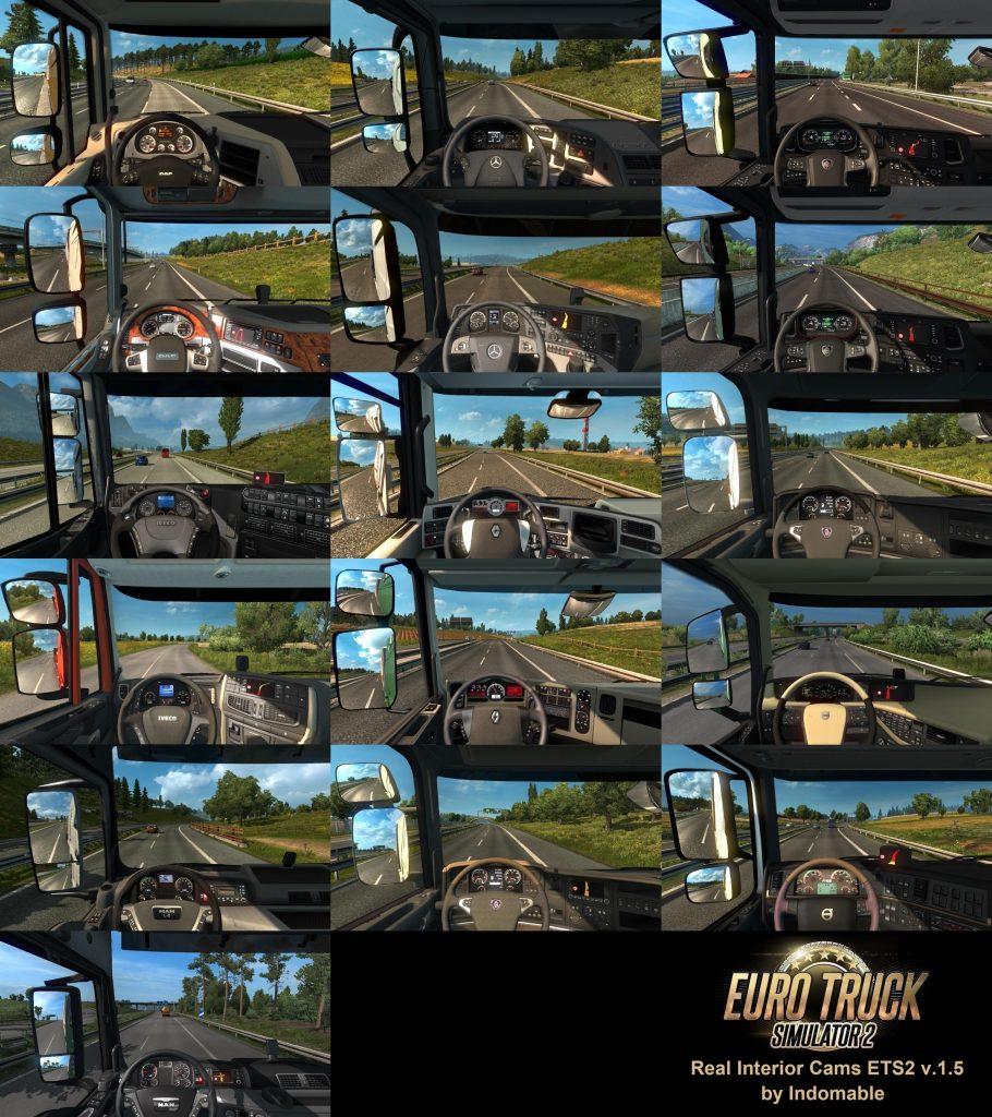 Real Interior Cams v1.5 1.34.x | ETS2 mods | Euro truck simulator 2 mods - ETS2MODS.LT