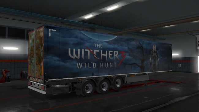 WITCHER3 OWNED TRAILER SKIN 1 34 X | ETS2 mods | Euro truck
