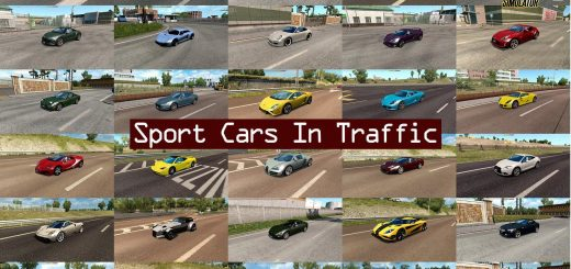 ETS2 Sport Cars Traffic Pack By Trafficmaniac V34 134x