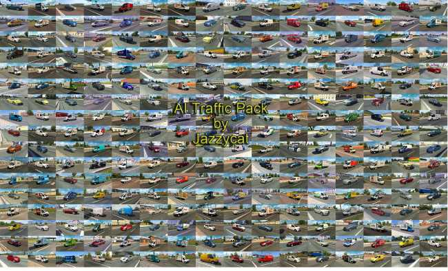 AI TRAFFIC PACK BY JAZZYCAT V10 1 | ETS2 mods | Euro truck