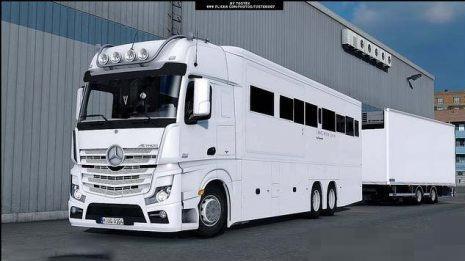 Mercedes Benz Rv >> Mercedes Benz Mp4 Actros Motorhome V2 0 Ets2 Mods Euro